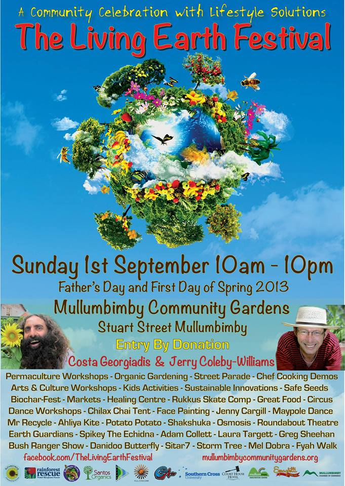 Living Earth Festival 1 September 2013 in Mullumbimby NSW