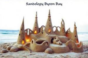 Sand castle art by Steve Machell, Sandologist