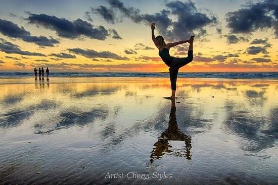 Yoga at Tallows Beach